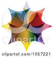 Royalty Free Vector Clip Art Illustration Of A Colorful Star Shaped Design by Andrei Marincas