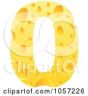 Royalty Free Vector Clip Art Illustration Of A Cheese Textured Number 0 Zero by Andrei Marincas