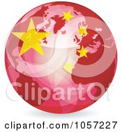Royalty Free Vector Clip Art Illustration Of A 3d Chinese Globe Ball by Andrei Marincas