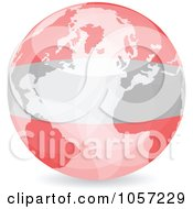 Royalty Free Vector Clip Art Illustration Of A 3d Austrian Globe Ball by Andrei Marincas