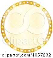 Royalty Free Vector Clip Art Illustration Of A Sparkly Golden Circle