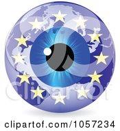 Royalty Free Vector Clip Art Illustration Of A 3d European Eye World Globe by Andrei Marincas