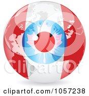 Royalty Free Vector Clip Art Illustration Of A 3d Canadian Eye World Globe by Andrei Marincas