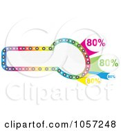 Royalty Free Vector Clip Art Illustration Of A Colorful Discount Banner by Andrei Marincas
