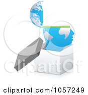 Royalty Free Vector Clip Art Illustration Of A 3d Open Mind In A Box by Andrei Marincas