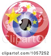 Royalty Free Vector Clip Art Illustration Of A 3d Chinese Eye World Globe by Andrei Marincas