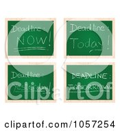 Royalty Free Vector Clip Art Illustration Of A Digital Collage Of Deadline Chalk Boards by Andrei Marincas