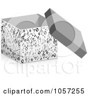 Royalty Free Vector Clip Art Illustration Of A 3d Box Of Music Notes by Andrei Marincas
