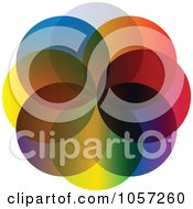 Royalty Free Vector Clip Art Illustration Of A Colorful Dot Design by Andrei Marincas