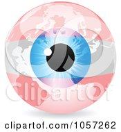 Royalty Free Vector Clip Art Illustration Of A 3d Austrian Eye World Globe by Andrei Marincas