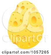 Royalty Free Vector Clip Art Illustration Of A Cheese Egg by Andrei Marincas