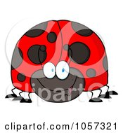 Royalty Free Vector Clip Art Illustration Of A Friendly Ladybug