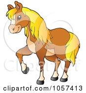 Royalty Free Vector Clip Art Illustration Of A Farm Horse Walking by visekart
