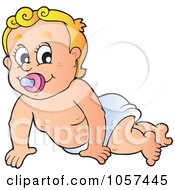 Royalty Free Vector Clip Art Illustration Of A Baby Crawling