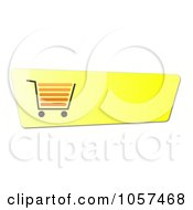 Royalty Free Clip Art Illustration Of A Yellow Shopping Cart Button by oboy