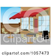 Royalty Free Vector Clip Art Illustration Of A Patio Cafe