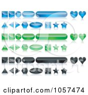 Royalty Free Vector Clip Art Illustration Of A Digital Collage Of Colorful Shiny 3d Website Buttons With Reflections