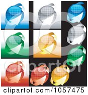 Digital Collage Of Spheres And Arrows