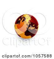 3d Orange And Red Globe