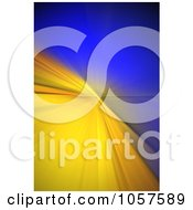 Royalty Free CGI Clip Art Illustration Of A Blur Background Of Yellow And Blue