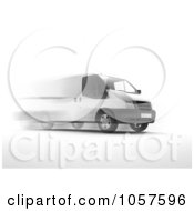 Royalty Free CGI Clip Art Illustration Of A 3d Fast Delivery Van