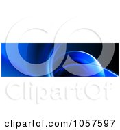 Royalty Free CGI Clip Art Illustration Of A Blue Curve Website Banner