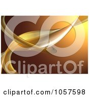 Royalty Free CGI Clip Art Illustration Of A Background Of Curves On Brown