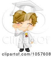 Royalty Free Vector Clip Art Illustration Of A Cute Graduate Boy Waving