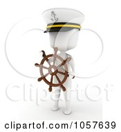 Royalty Free CGI Clip Art Illustration Of A 3d Ivory Captain by BNP Design Studio