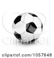 Royalty Free CGI Clip Art Illustration Of A 3d Soccer Ball