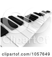 Royalty Free CGI Clip Art Illustration Of A 3d Piano Keyboard 2 by BNP Design Studio