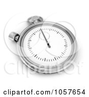 Royalty Free CGI Clip Art Illustration Of A 3d Timer Pocket Watch