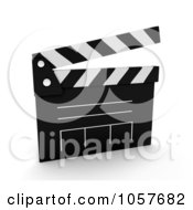 Royalty Free CGI Clip Art Illustration Of A 3d Clapper Board