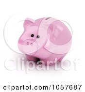 Royalty Free CGI Clip Art Illustration Of A 3d Piggy Bank