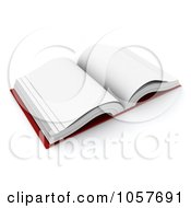 Royalty Free CGI Clip Art Illustration Of A 3d Open Blank Book