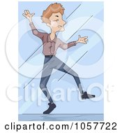 Royalty Free Vector Clip Art Illustration Of A Man Walking Into A Window