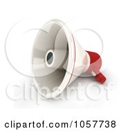 Royalty Free CGI Clip Art Illustration Of A 3d Megaphone by BNP Design Studio