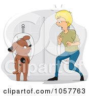Man Walking In On A Dog Using A Urinal