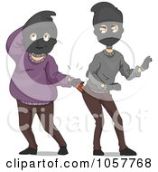 Royalty Free Vector Clip Art Illustration Of Funny Burglars