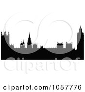 Royalty Free Vector Clip Art Illustration Of The Black Silhouetted Houses Of Parliament by cidepix