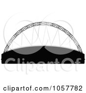 Royalty Free Vector Clip Art Illustration Of The Black Silhouetted Davies Alpine House by cidepix