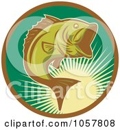 Royalty Free Vector Clip Art Illustration Of A Largemouth Bass Icon 3 by patrimonio