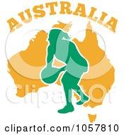 Royalty Free Vector Clip Art Illustration Of An Australia Netball Player