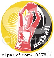Royalty Free Vector Clip Art Illustration Of A Netball Player Icon 2