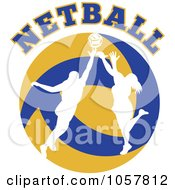 Royalty Free Vector Clip Art Illustration Of A Netball Player Icon 4