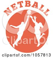 Royalty Free Vector Clip Art Illustration Of A Netball Player Icon 5