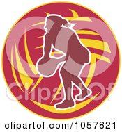 Royalty Free Vector Clip Art Illustration Of A Netball Player Icon 8
