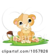 Royalty Free Vector Clip Art Illustration Of A Happy Cute Little Lion