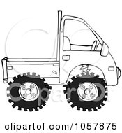 Royalty Free Vector Clip Art Illustration Of A Coloring Page Outline Of A Keimini Truck