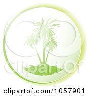 Royalty Free Vector Clip Art Illustration Of A Green Palm Tree Icon by michaeltravers
